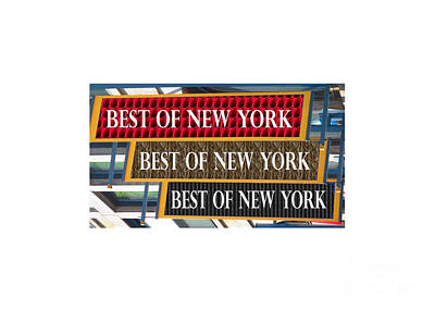 Painting - Best Of New York Usa America Text by Navin Joshi