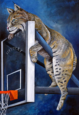 Basketball Painting - Best Seat In The House by Jeff Conway