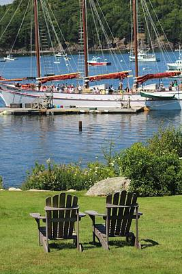Photograph - Best Seats In Bar Harbor Maine by Living Color Photography Lorraine Lynch