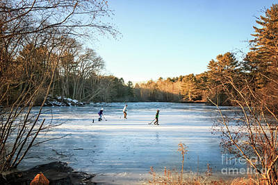 Photograph - Best Skating Pond For A Hockey Game by Elizabeth Dow