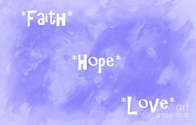 Hope Digital Art - Best Three Words by Krissy Katsimbras