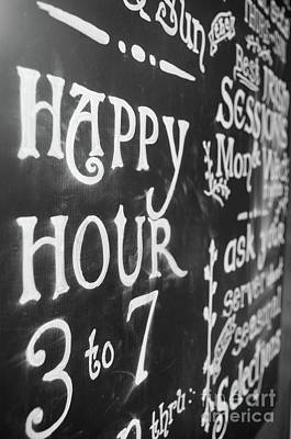 Photograph - Best Two Words Ever  Happy Hour by John S