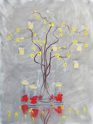 Painting - Best Wedding Gift Romance Tree by Ken Figurski