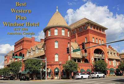 Photograph - Best Western Plus Windsor Hotel by Jerry Battle