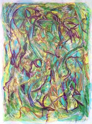 Abstract Movement Drawing - 'best When You Improvise' by Kelly K H B