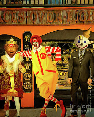 Besties Forever Ronald Jack And The King Gets Head Tattoos At The Parlor 20160625 Vertical Art Print