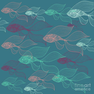 Summer Fun Digital Art - Beta Fish  by Mark Ashkenazi