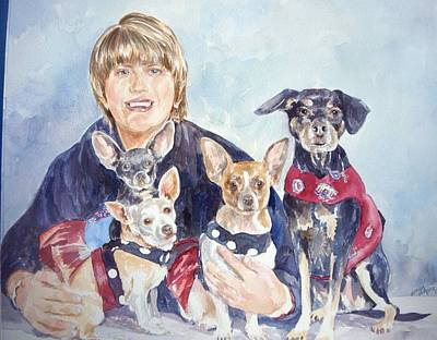 Painting - Beth And Her Babies by Gloria Turner