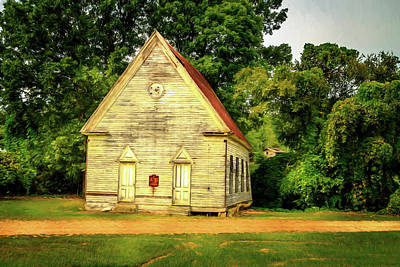 Photograph - Bethany Baptist Church Enid Ms by Barry Jones