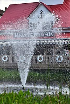 Photograph - Bethany Beach Boathouse Restaurant Fountain by Kim Bemis