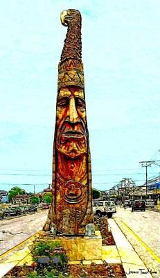 Bethany Beach Wall Art - Photograph - Bethany Beach Totem by Jeffrey Todd Moore