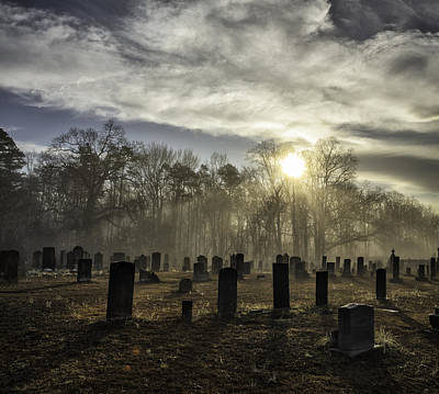 Photograph - Bethany Church Cemetery 02 by Jim Dollar