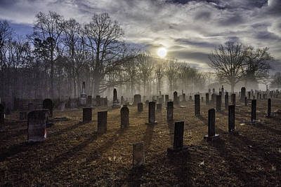 Photograph - Bethany Church Cemetery 04 by Jim Dollar