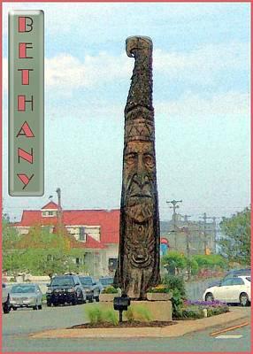 Bethany Beach Wall Art - Photograph - Bethany Totem Pole by Natalie Bollinger