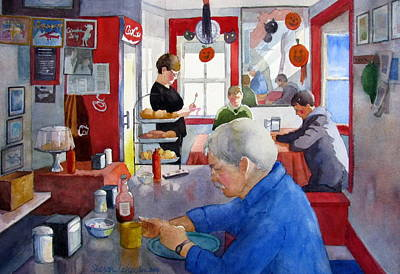 Painting - Bethany's Airport Diner II by Sharon Lehman