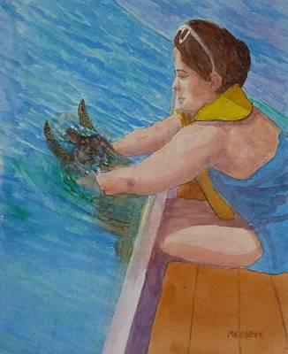 Painting - Bethany's Bahama Sea Turtle by Roseann Meserve