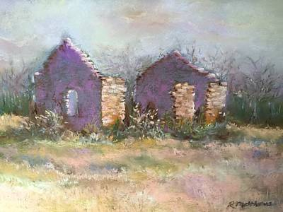 Pastel - Bethel School At Sunset by Rebecca Matthews