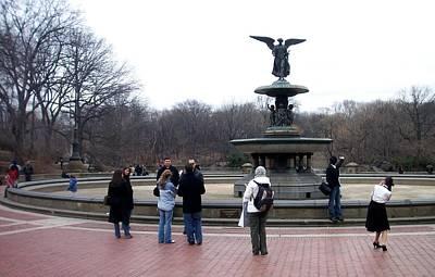 Photograph - Bethesda Fountain by Anita Burgermeister