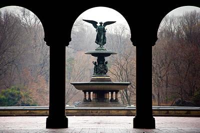 Central Park Photograph - Bethesda Fountain by Heidi Reyher