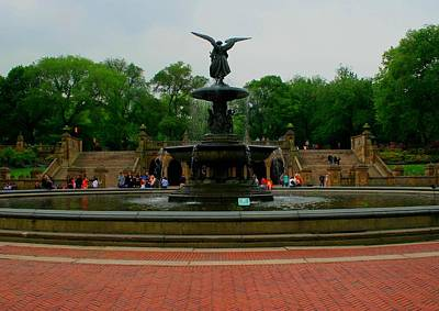 Photograph - Bethesda Fountain In Central Park by Christopher Kirby
