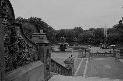 Bethesda Fountain Steps Art Print