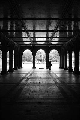 Photograph - Bethesda Fountain Tunnel  by Christopher Kirby