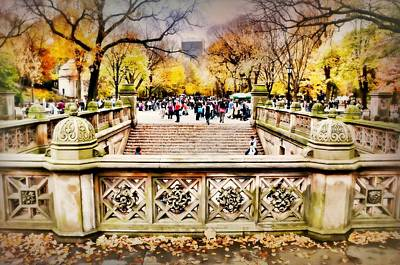 Photograph - Bethesda Terrace by Diana Angstadt