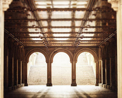 Bethesda Terrace In Color Art Print by Lisa Russo