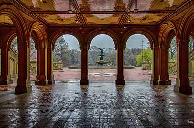 Bethesda Terrace Lookout Art Print by Mike Burgquist