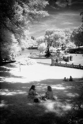 Photograph - Bethesda View Ir by Dave Beckerman