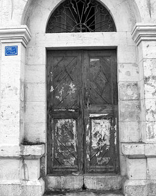 Photograph - Bethlehem - Aged Door by Munir Alawi