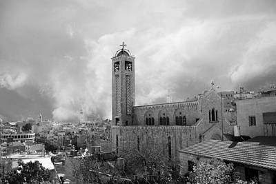 Photograph - Bethlehem - Rainy Day by Munir Alawi
