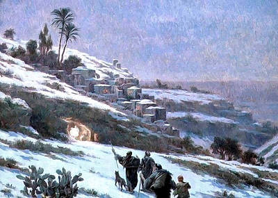 Painting - Bethlehem 1893 by Munir Alawi
