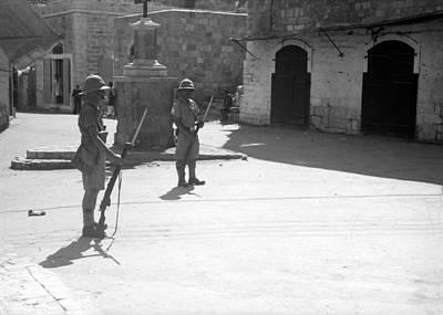 Photograph - Bethlehem Al Manara 1938 by Munir Alawi