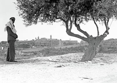 Photograph - Bethlehem City 1940 by Munir Alawi