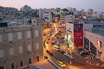 Photograph - Bethlehem City At Sunset by Munir Alawi