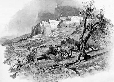 Photograph - Bethlehem In 1896 by Munir Alawi
