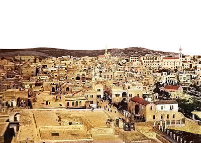 Photograph - Bethlehem In Colors 1918 by Munir Alawi
