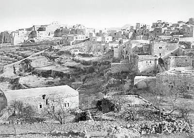 Photograph - Bethlehem In The 19th Century by Munir Alawi