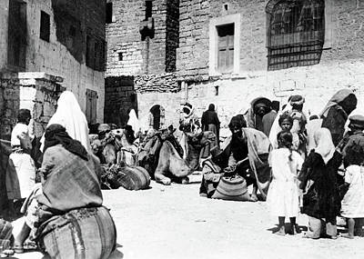 Photograph - Bethlehem Market 1918 by Munir Alawi