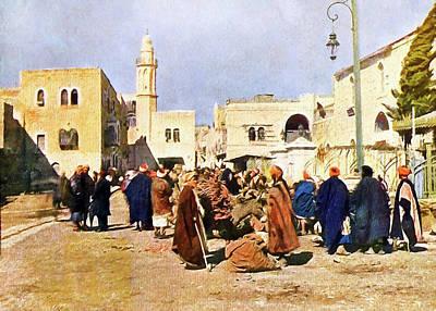 Photograph - Bethlehem Market 19th Century by Munir Alawi
