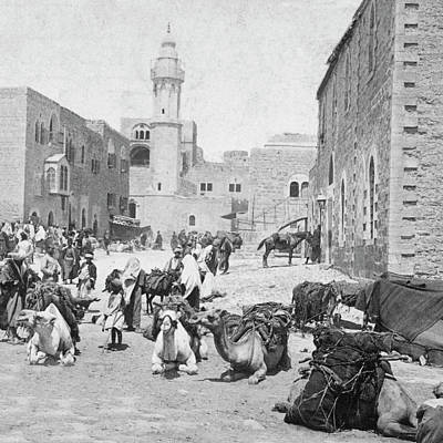 Photograph - Bethlehem Marketplace 1896 by Munir Alawi