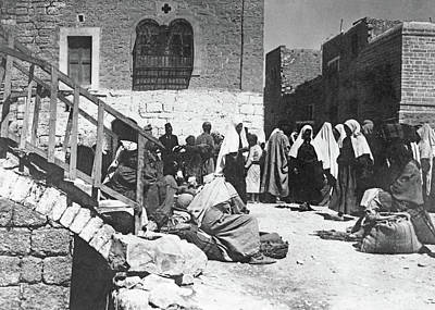 Photograph - Bethlehem Marketplace 1918 by Munir Alawi