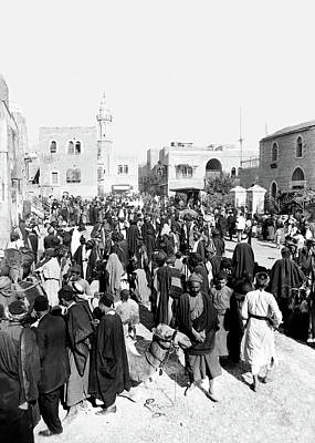 Photograph - Bethlehem Marketplace 1929 by Munir Alawi