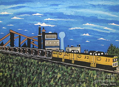 Painting -  Bethlehem Mine 33 And C And I Railroad by Jeffrey Koss