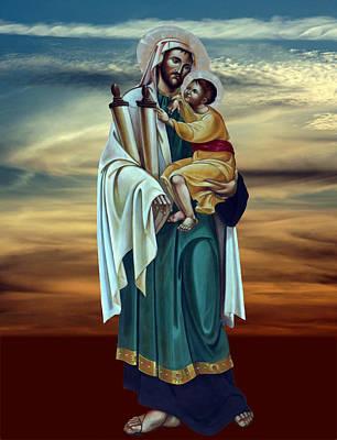 Bethlehem Nativity Church Painting  Original by Munir Alawi