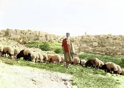 Photograph - Bethlehem Shepherd 1920 by Munir Alawi