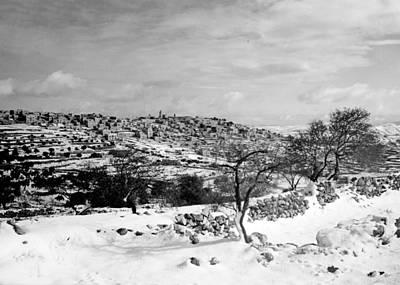 Photograph - Bethlehem Snow 1940 by Munir Alawi