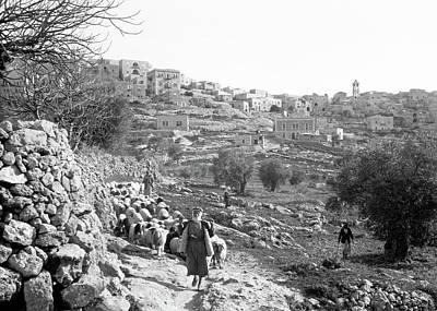 Photograph - Bethlehem South Side 1934 by Munir Alawi
