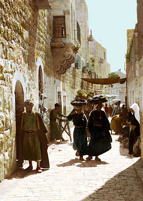 Photograph - Bethlehem Star Street 1900 by Munir Alawi